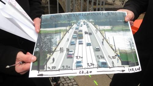 Brückenplan mit Amtsdaumen