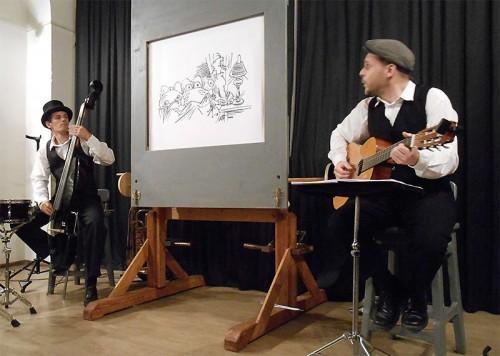 Kurbeltheater: Georg Schütze und Tobias Herzz Hallbauer