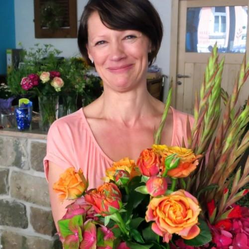 Blumenverkäuferin Manuela Jockusch