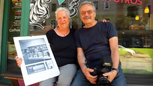Karin Sachs und Günter Starke am Bischofsweg 15.