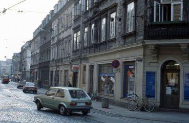 Die Rothenburger Straße Anfang der 1990er Jahre. Foto: Lothar Lange