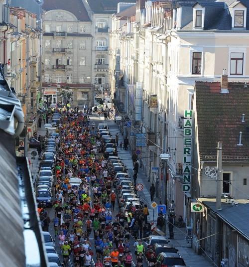 Die Rothenburger Straße war voll. Danke an Erich für das Foto.