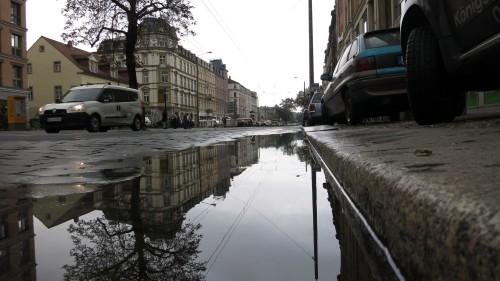 Die Königsbrücker Straße am Mittag.