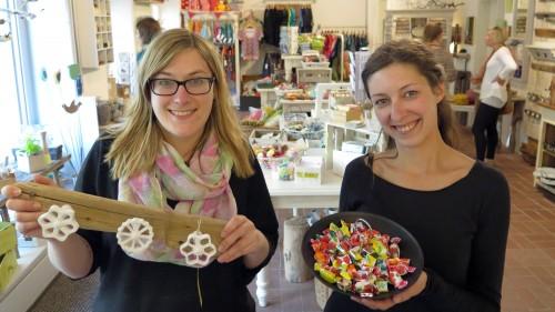 Antje Schöne und Anne Fiegert im Handmade²