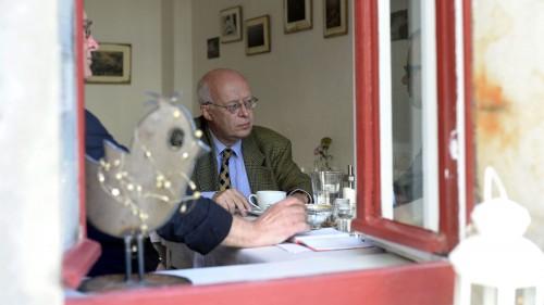 Stefan Vogel im Café Sperling - Foto: Dehli-News