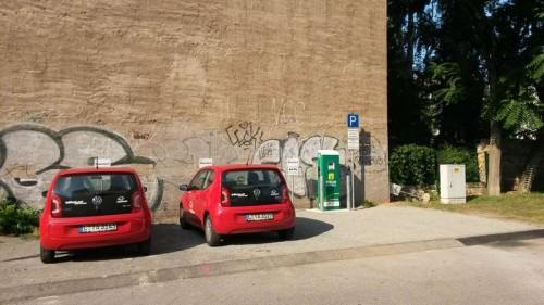 Stromtankstelle an der Einfahrt zur Seifhennersdorfer Straße - Foto: Drewag