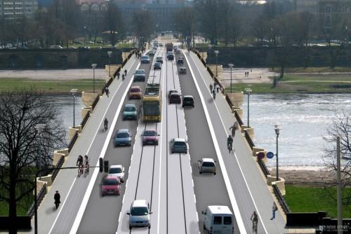 So soll die Brücke aussehen. Visualisierung: www.dresden.de