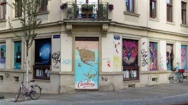 Ganz bunt: das Medien-Café Casablanca