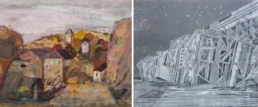 In der Kunstausstellung Kühl: Werke von Werner Wittig und Stephanie Marx