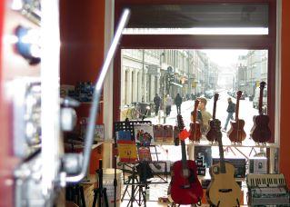 Der Musikladen mit Spitzen-Ausblick