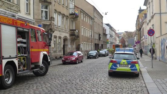 Die Katharinenstraße ist derzeit für den Durchgangsverkehr gesperrt.