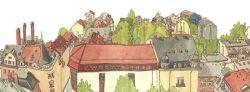 Über den Dächern der Neustadt: Zeichnung: Anne Ibelings