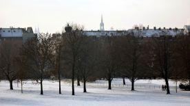 Alaunplatz mit Schnee - Februar 2012