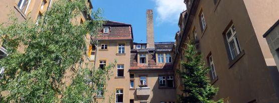 Hinterhof im August 2012