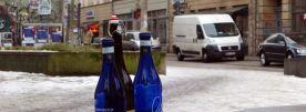 Flaschen an der bunten Ecke im März 2013