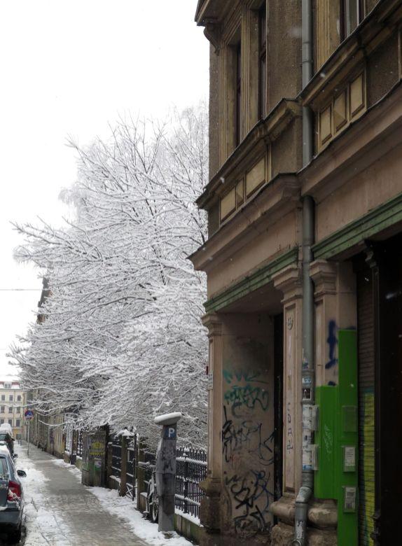 An der Kamenzer Straße.