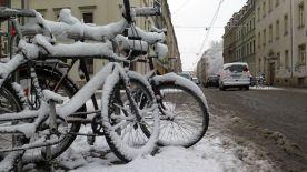 Mit dem Rad fährt es sich übrigens im Moment sehr eirig durch die Neustadt.