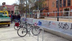 Die umstrittenen Fahrradbügel.
