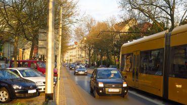Demnächst mit Radweg, die Bautzner Straße.