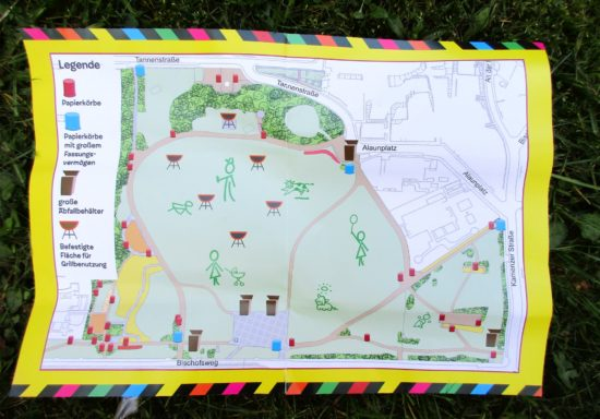 Ein Plan für weniger Müll im Alaunpark