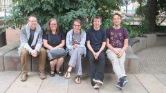Die Mitstreiter des NAF: Heiko vom Theater Wanne, Ulla Wacker, Conny Köckritz, Jan Kossick und Steffen Peschel