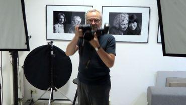 """Günter Starke im Atelier """"Starke Fotografen"""""""