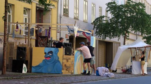 Standaufbau an der Fichtenstraße