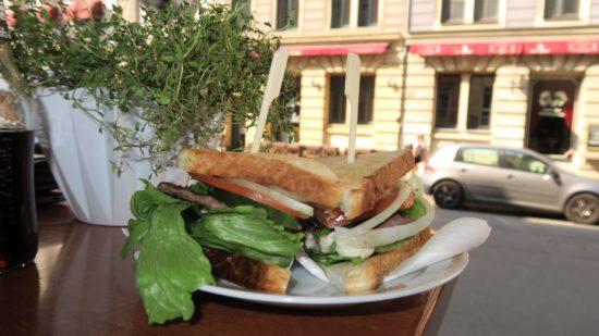 Sandwich mit Ausblick