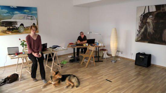 Andi Valandi und Frank Dresig im Interrobang
