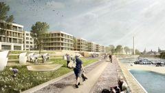 Kaskaden vom Hafen bis zum neue zentralen Platz. Quelle: USD Immobilien GmbH