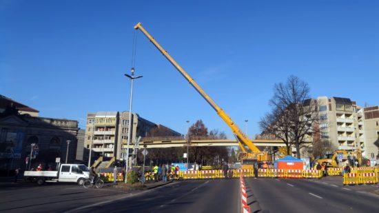Die Albertstraße war heute komplett gesperrt.