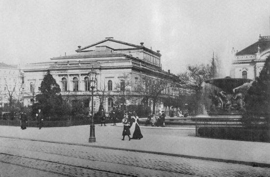 Alberttheater Anfang des 20. Jahrhunderts