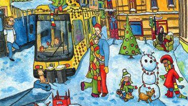 Neustadt Weihnachten 2016 (Ausschnitt) Zeichnung: Thomas Schreiter