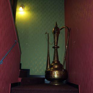 Wunderlampe auf der Treppe