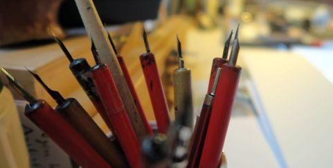 Das Werkzeug des Künstlers.