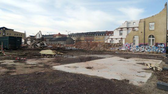 Eisenlager und Kesselhaus sind abgerissen.