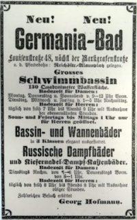 Das Nordbad wurde 1895 als Germania-Bad eröffnet.