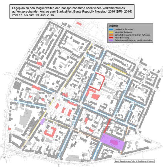 So sah der Bebauungsplan zur BRN 2016 aus ... in den meisten Bereichen wird es wohl auch in diesem Jahr ähnlich bleiben.