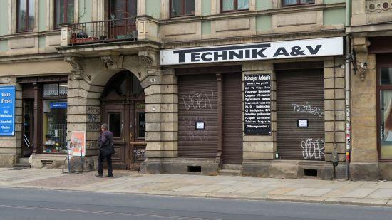 Umgezogen: Technik A&V auf der Bautzner - neue Adresse in Pieschen.