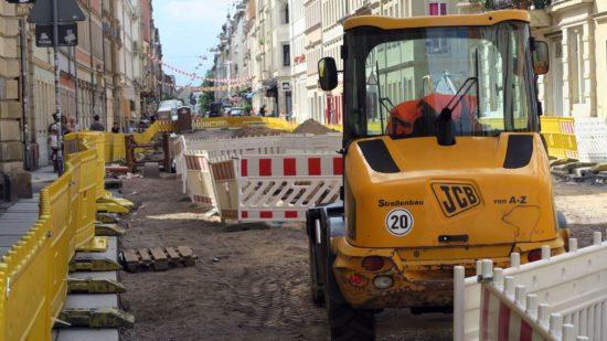 Arbeiten an der Louisenstraße sollen bis September abgeschlossen sein.
