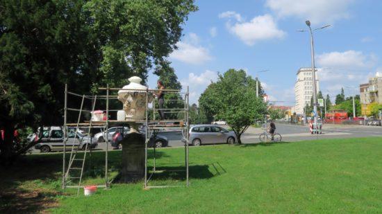 Die Vase zwischen Glacis- und Bautzner Straße wird entsalzt.
