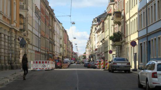 Fast fertig: die Louisenstraße