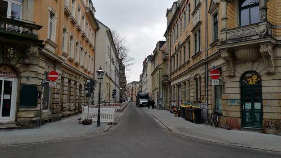 Pulsnitzer Straße wieder befahrbar.