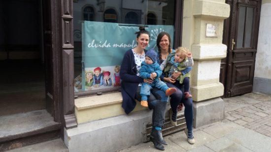 Elvida - das sind Friederike und Tilli - mit Nachwuchs