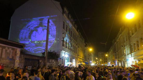 Lichtkunst am Alexanderplatz
