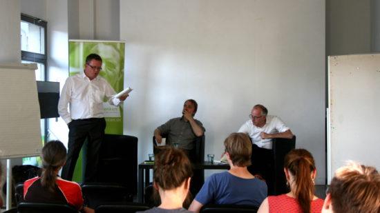 Dr. Gerd Lippold, Dr. Achim Wesjohann und Arne Jungjohann (von links nach rechts)
