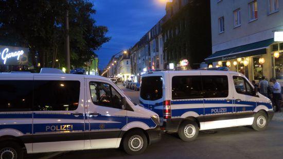Die Alaunstraße war bis in die späten Abendstunden gesperrt.