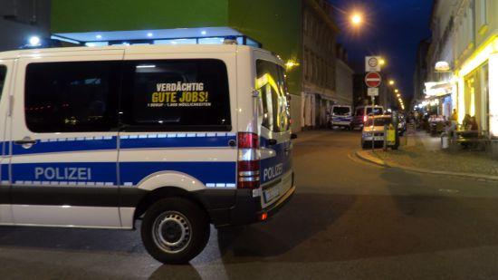 Alaun- und Katharinenstraße waren gestern zwischen 20 Uhr und 22.45 Uhr gesperrt.