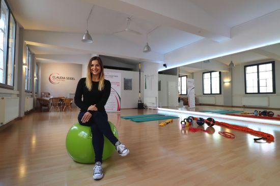 Claudia Seidel in ihrem Fitnesstudio an der Katharinenstraße