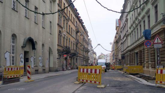 Louisenstraße - wieder befahrbar.
